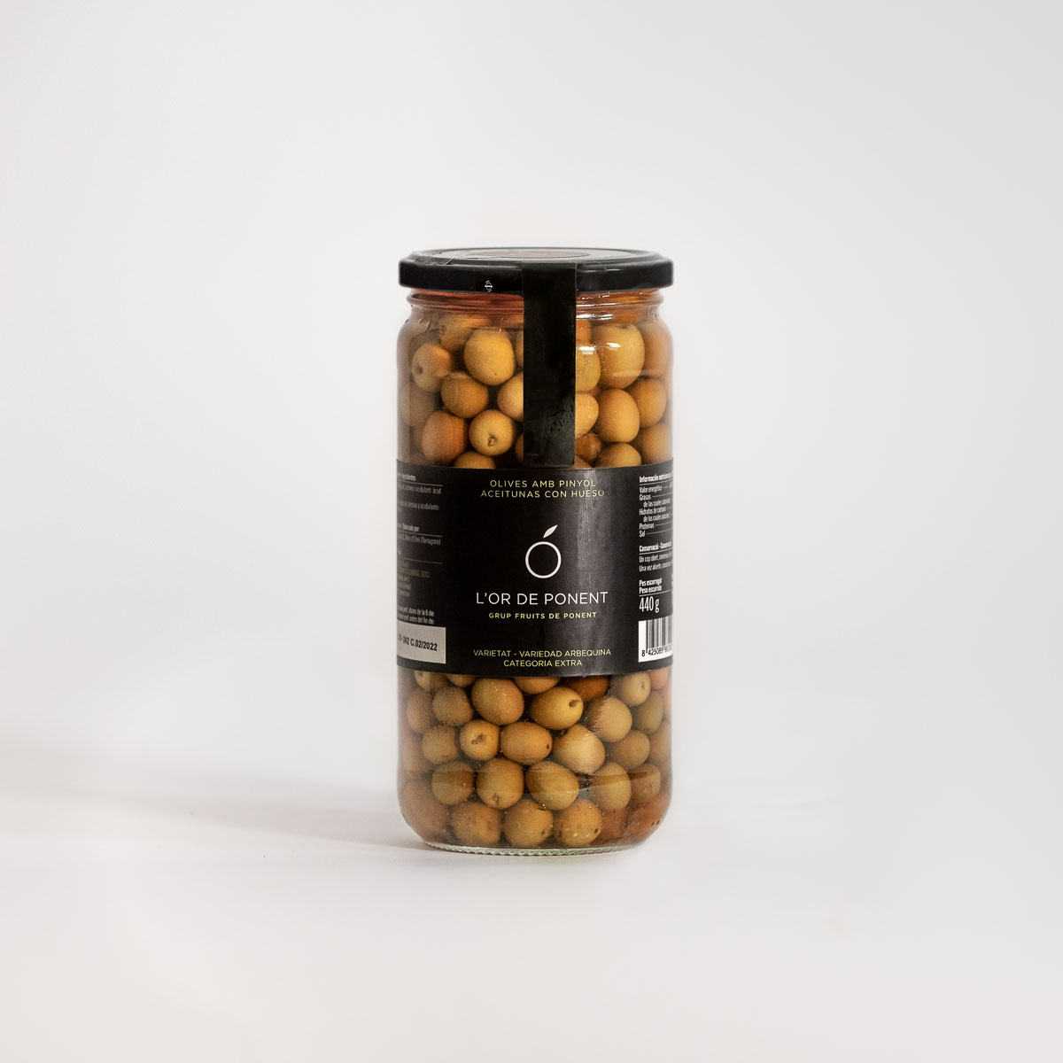 olivas-arbequinas-vidrio-Or-de-Ponent-aove-aceite-oliva-virgen-extra-garrigues-denominacion-origen-450-gr-1